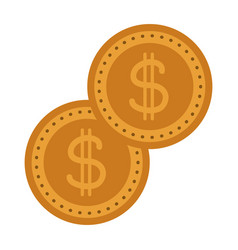 Gold coins dollar money currency cash vector