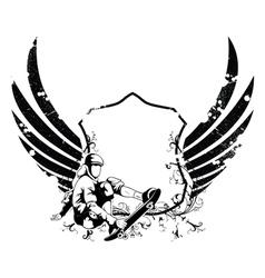 grunge urban emblem vector image