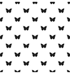 Insect butterfly pattern simple style vector