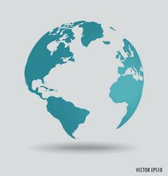 Modern world globe vector