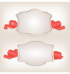 Romantic label with ribbon vetor vector image vector image
