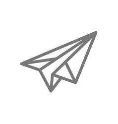 Simple paper airplane line icon symbol and sign vector