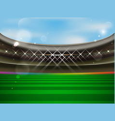Soccer stadium banner football arena with vector