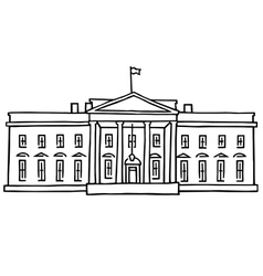 The White House Washington DC vector image