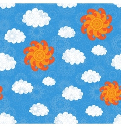 Vintage Sky Seamless Pattern vector image vector image