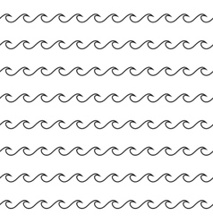 Waves Seamless Pattern vector image
