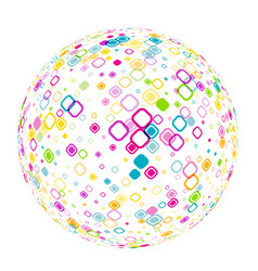 white 3d ball with geometric pattern vector image vector image