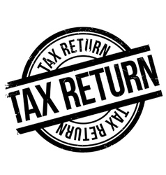 Tax return stamp vector image