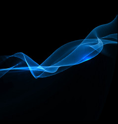 Electric blue wave background vector