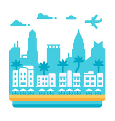 Flat design miami beach vector