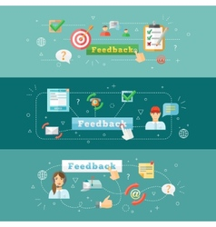 Feedback web infographic vector