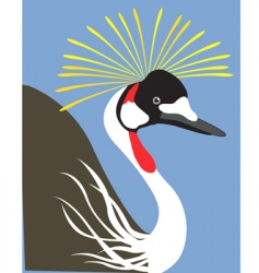 crowned crane vector image