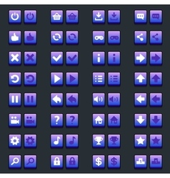 Space game icons buttons icons interface vector