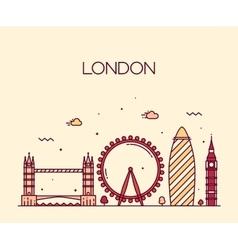 London England Trendy line art style vector image