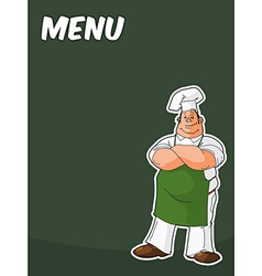blackboard with cook or chef vector image