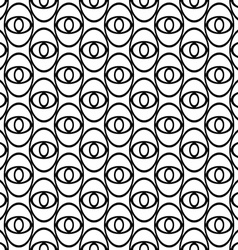Monochrome abstract ellipse eye repeat pattern vector