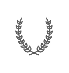 Laurel wreath line icon vector