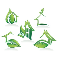 eco homes and ecological property vector image