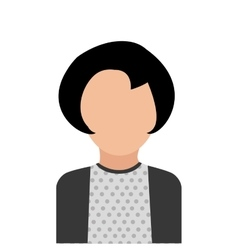 Businesspeople design person icon flat and vector