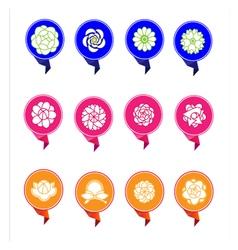 Banner flower vector image vector image