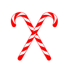 Christmas candy cane cross vector