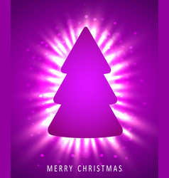 christmas tree made of pink paper on pink vector image vector image