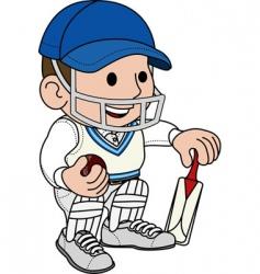 cricketer batsman vector image vector image