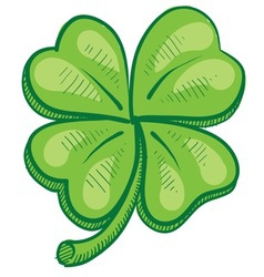 doodle four leaf clover lucky vector image vector image