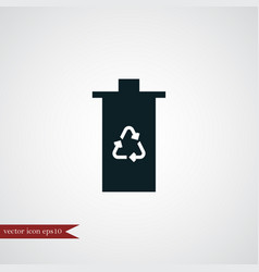 Eco trash icon simple vector