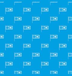 Flag of sri lanka pattern seamless blue vector