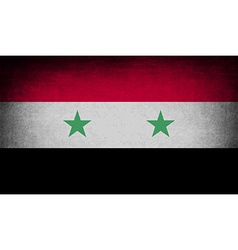 Flag of Syria with old texture vector image