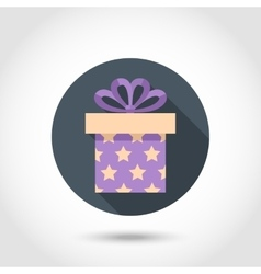 Flat Gift box colorful icon vector image vector image