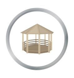 Gazebo icon in cartoon style isolated on white vector