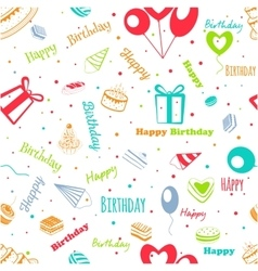 Happy Birthday greeting pattern vector image