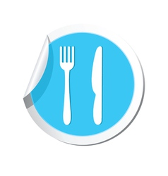 knife AND fork BLUE LABEL vector image vector image