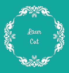 laser cut floral ornament vector image vector image
