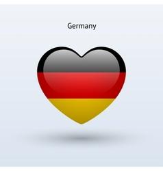 Love germany symbol heart flag icon vector