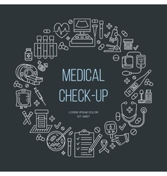 Medical poster template line icon medical vector