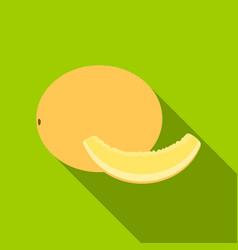 melon icon flat singe fruit icon vector image vector image
