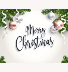 merry christmas background for congratulations vector image vector image