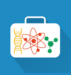 Molecules modern design flat icon with long shadow vector