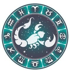 Scorpio zodiac sign vector