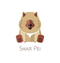 Shar Pei Funny cartoon character vector image