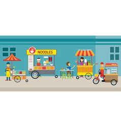 Thailand street food vector