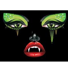 Vampire makeup2 vector