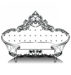 Vintage luxury baroque sofa vector