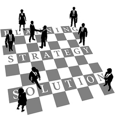 Planning strategy solution human chess people vector