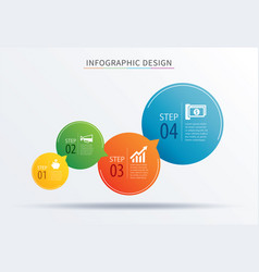 Infographics circle number 4 step template vector