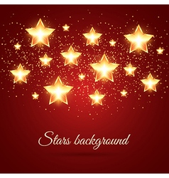 Background with Glowing Stars vector image