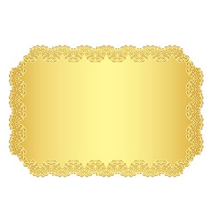 Luxury golden invitation with lace border vector